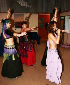 Rosalina Pang hosting a bellydance party