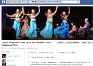 5th Element Belly dance social media